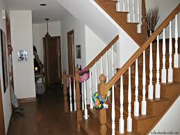 Oak Banister Makeover Staircase Makeover Redhead Can Decorate