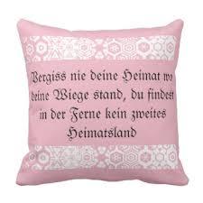 heimat spr che sofa decorative pillows zazzle ca