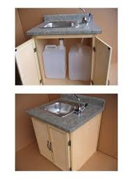 c sink with foot pump sink without plumbing perfect for our cabin at the lake a kitchen