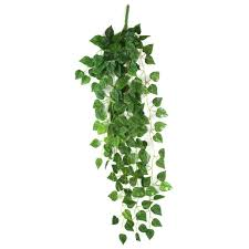 amazon com atificial fake hanging plant leaves garland home