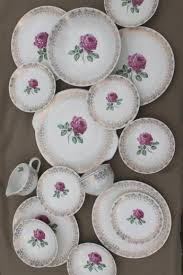 roses china 40s 50s vintage briar or moss roses china dishes set