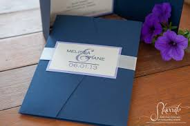 wedding pocket invitations custom design