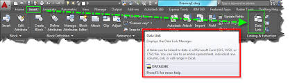 creating a data link with an excel table autocad tips