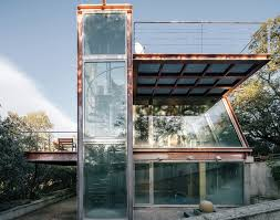 penelas architects completes fully glassed facade pavilion in