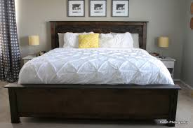 amazing of white king headboard ana white cassidy bed king diy