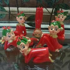vintage pixie figurine ornaments 1950s pixies