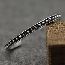 cuff silver bracelet men images Men 39 s sterling silver stars cuff bracelet jpg
