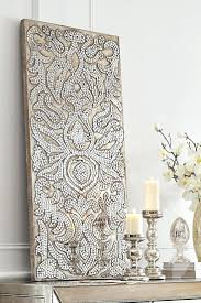 wall art ideas pinterest bookpeddler us add an elegant sparkle to your home with this mirrored damask panel from pier 1college wall