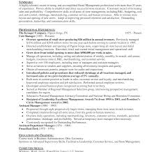 sle resume objective statements for management loss preventionesume objective manager exles statement for