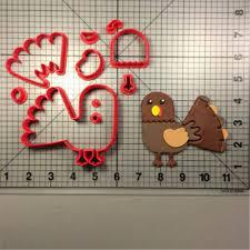 turkey design custom made 3d printed fondant cupcake top cookie