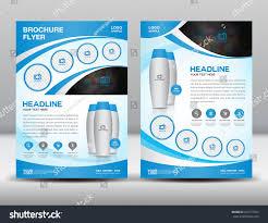 blue business brochure flyer design layout stock vector 433172923