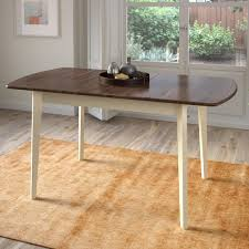 corliving dillon dark brown and cream wood extendable oblong