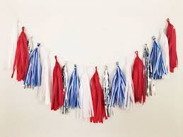 fourth of july cute red white and blue party decorations glamour 4th of july decorations garland