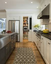 Sliding Kitchen Cabinet Kitchen With White Cabinet And Sliding Pocket Pantry Door