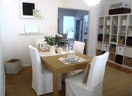 bright parsons chairs in dining room shabby chic with seagrass