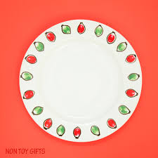 christmas plate christmas plate gift a kid made gift non gifts