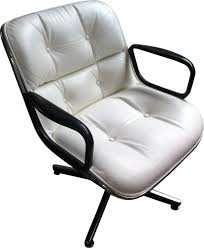 White Leather Arm Chair Desk Armchair In Aluminum And White Leather Charles Pollock