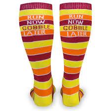 thanksgiving turkey knee high socks divascuisine