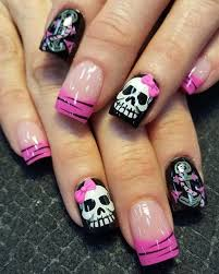 40 cute and spooky halloween nail art designs sugar skull