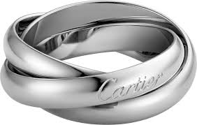 cartier platinum rings images Crb4218600 trinity ring classic white gold cartier png