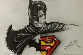 batman vs superman drawing timelapse youtube