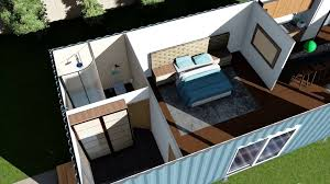 house plan shipping container home floor plans render animation