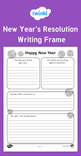 twinkl writing paper 314 best english and phonics images on pinterest phonics new year s resolution writing frame celebrate the new year with these lovely new year s resolution
