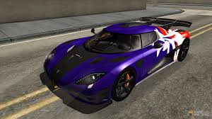 blue koenigsegg one 1 5 koenigsegg one 1 2014 for gta san andreas