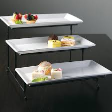 3 tiered cake stand elite gracious dining 3 tier plate set with metal stand tray