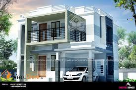 Impressive Design Ideas 1700 Sq Square Feet Double Floor Contemporary Home Design
