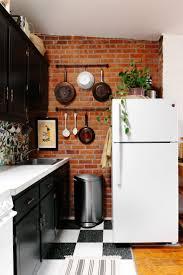 faux brick backsplash in kitchen kitchen backsplash adorable exposed brick rooms glass tile