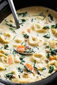 slow cooker creamy tortellini soup cafe delites