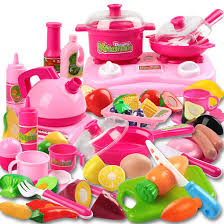 playpink cuisine abbyfrank 46pcs pretend play pink kitchen baby kitchen food for doll