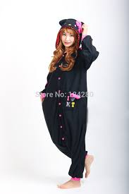 Kitty Halloween Costumes Aliexpress Buy Kitty Onesies Pajamas Girls