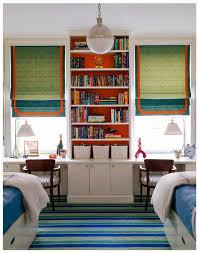 Bookcase Desks Shared Children U0027s Room Built In Shelving And Desks Designing