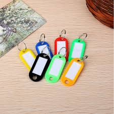 color key rings images 10pcs mix color plastic keychain key ring holder id tags label jpg