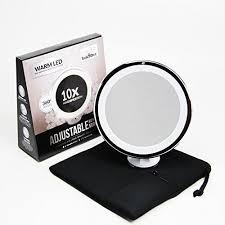 travel mirror images 10x magnifying lighted makeup mirror warm led tap light bathroom jpg