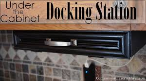 Build A Charging Station Diy Under The Cabinet Docking Station Confessions Of A Serial Do