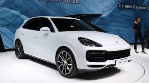 new porsche 2018 all new porsche cayenne turbo parks all its 550 horsepower in