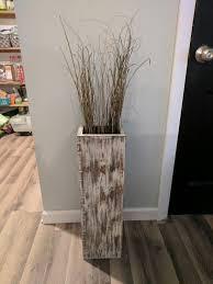 sale wide single tall rustic wood floor vase home decor