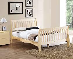 Pine Sleigh Bed Frame 4ft6 Sleigh Bed Frame Made With White Solid Pine