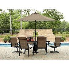 Patio Dining Set With Umbrella Durango 7 Patio Dining Set Includes 4