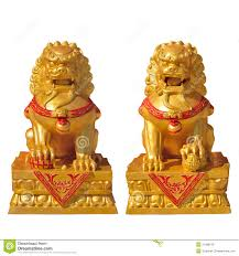 gold lion statue golden lion statue stock image image of asia ornament 31486579