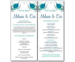 wedding ceremony program template word 27 images of wedding program template microsoft adornpixels