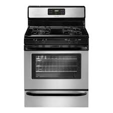 Clean Stainless Steel Cooktop Frigidaire 30 In 5 0 Cu Ft Gas Range With Self Cleaning Oven In