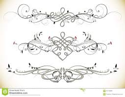 swirl floral vintage ornaments decoration vector stock vector