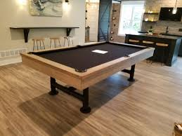 imperial bedford 12 shuffleboard table pool table in home installation pictures gametablesonline com
