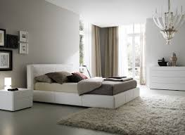 Interior Home Deco Bedroom Charming White Brown Wood Glass Modern Design Art Deco
