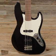 Fender Mustang Bass Black Fender Standard Jazz Bass Fretless Mim Black Used S958 Fender