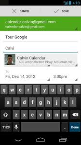 google calendar updated notification actions event
